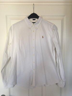 Polo Ralph Lauren Button-Down Bluse weiß Slim-Fit