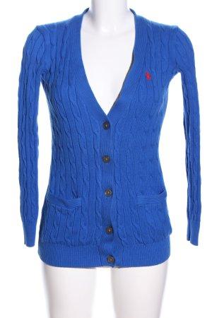 Polo Ralph Lauren Cardigan blau Schriftzug gestickt Casual-Look