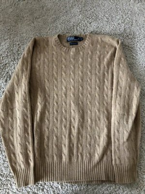 Polo Ralph Lauren Kaszmirowy sweter beżowy Kaszmir