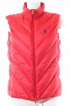 Polo Ralph Lauren Down Vest red quilting pattern casual look