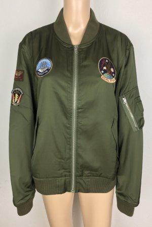 Polo Ralph Lauren, Embroidered Bomber Jacket, XL, New Olive, Viskose/Cotton, neu, € 400,-