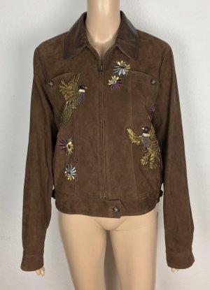 Polo Ralph Lauren, Embroidered Suede Jacket, M, Brown, neu, € 1.500,-