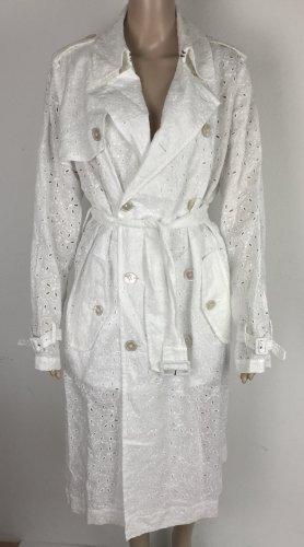 Polo Ralph Lauren Trench Coat white linen