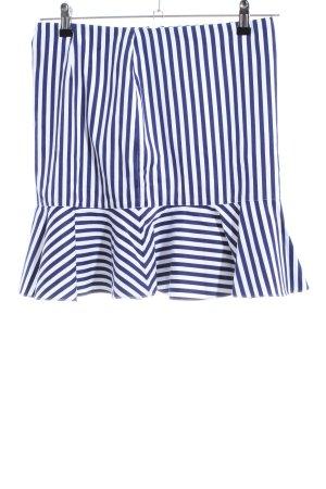 Polo Ralph Lauren Jupe à godet blanc-bleu motif rayé style décontracté