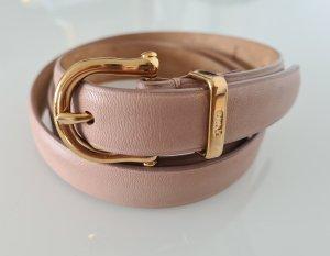 Ralph Lauren Leather Belt gold-colored-dusky pink leather