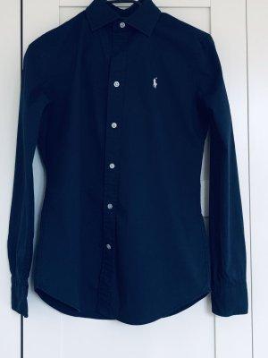 Polo Ralph Lauren Camisa de manga larga azul oscuro Algodón