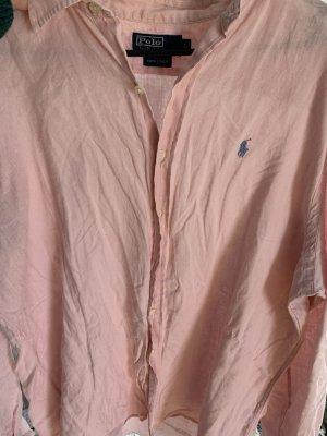 Polo Ralph Lauren Flannel Shirt light pink-pink