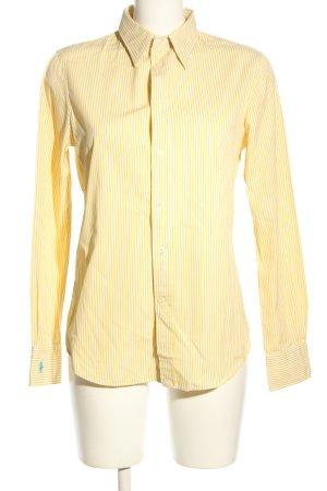 Polo Ralph Lauren Hemd-Bluse blassgelb-weiß Streifenmuster Business-Look