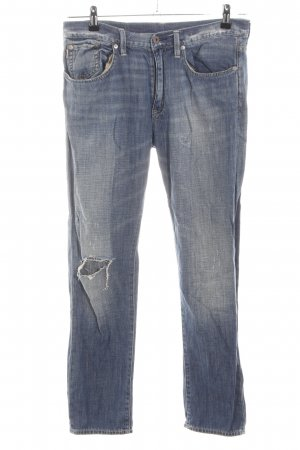 Polo Ralph Lauren High Waist Jeans blau Street-Fashion-Look