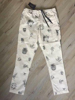Polo Ralph Lauren Cargo Pants white-black cotton