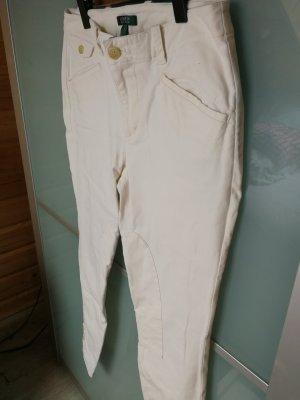 Polo Ralph Lauren Hose beige weiß mit Steppungen und Knöpfen