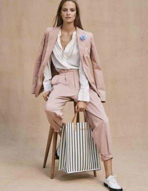 Polo Ralph Lauren Spodnie z zakładkami stary róż Bawełna