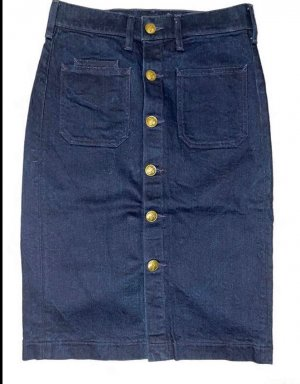 Polo Ralph Lauren Denim Skirt dark blue-gold-colored