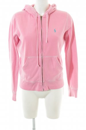 Polo Ralph Lauren Giacca con cappuccio rosa stile atletico
