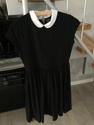 Polo Ralph Lauren Vestido línea A negro-blanco Algodón