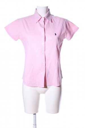 Polo Ralph Lauren Kurzarm-Bluse pink-weiß Karomuster Casual-Look