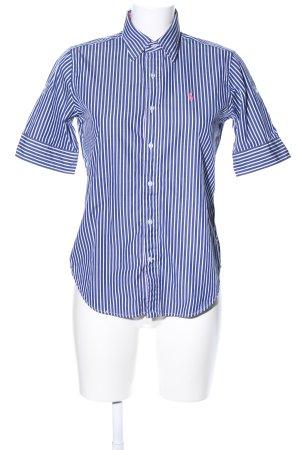 Polo Ralph Lauren Short Sleeve Shirt blue-white striped pattern casual look