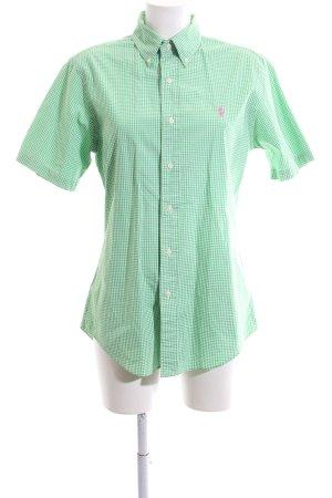 Polo Ralph Lauren Kurzarmhemd grün-weiß Allover-Druck Casual-Look