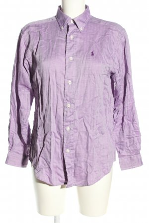 Polo Ralph Lauren Langarm-Bluse lila Casual-Look