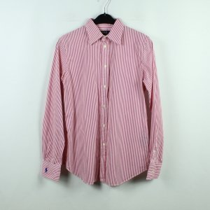 POLO RALPH LAUREN Langarmbluse Gr. 40 pink weiß gestreift (20/10/350*)