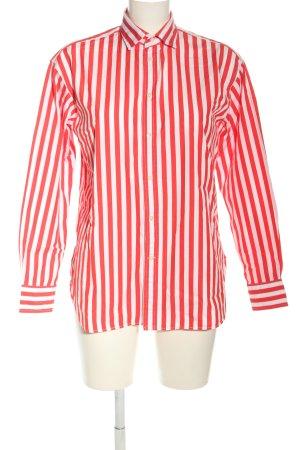 Polo Ralph Lauren Langarmhemd weiß-rot Streifenmuster Casual-Look