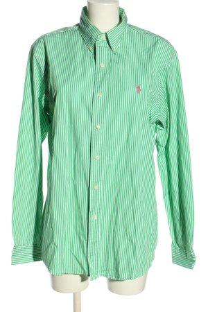 Polo Ralph Lauren Langarmhemd grün-weiß Streifenmuster Casual-Look