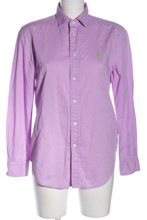 Polo Ralph Lauren Langarmhemd lila Casual-Look