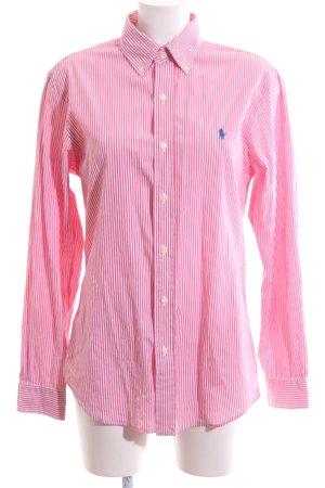 Polo Ralph Lauren Langarmhemd pink-weiß Streifenmuster Casual-Look