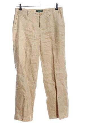 Polo Ralph Lauren Pantalone di lino crema stile casual