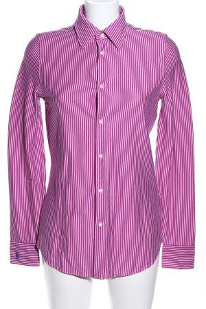 Polo Ralph Lauren Longsleeve pink-weiß Allover-Druck Business-Look