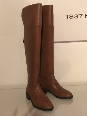 Polo Ralph Lauren Overknees brown-gold-colored leather