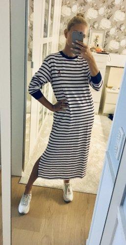 Polo Ralph Lauren Maxi Dress dark blue-white cotton