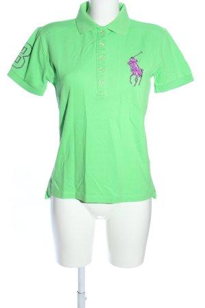 Polo Ralph Lauren Polo vert-violet style décontracté