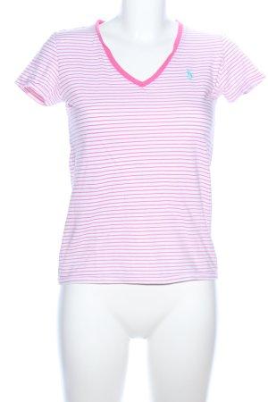 Polo Ralph Lauren Camiseta tipo polo blanco-rosa estampado a rayas look casual