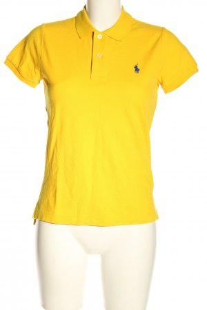 Polo Ralph Lauren Camiseta tipo polo amarillo pálido letras bordadas