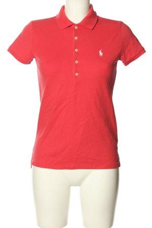 Polo Ralph Lauren Polo-Shirt rot Schriftzug gestickt Casual-Look