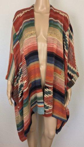 Polo Ralph Lauren, Poncho, Red Multi, Leinen/Cotton/Seide, neu, € 800,-