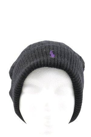 Polo Ralph Lauren Cappello con pon pon nero punto treccia stile casual