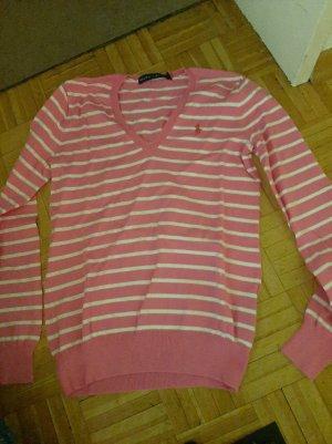 Polo Ralph Lauren Jersey largo blanco-rosa