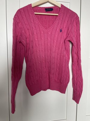 Polo Ralph Lauren Coarse Knitted Sweater pink