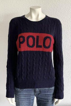 Polo Ralph Lauren Knitted Sweater dark blue-red