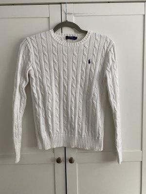 Polo Ralph Lauren Pull torsadé blanc