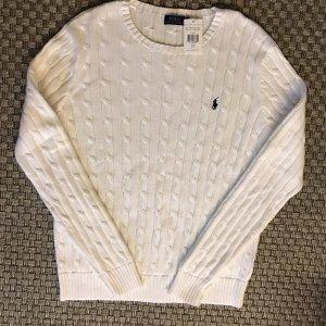 Polo Ralph Lauren Jersey trenzado blanco-azul oscuro Algodón