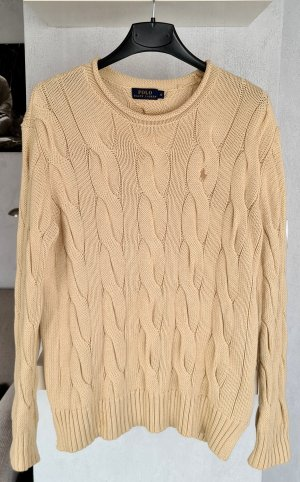Polo Ralph Lauren Cable Sweater beige cotton