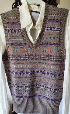Polo Ralph Lauren Fine Knitted Cardigan grey brown-dark blue