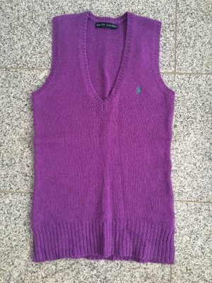 Polo Ralph Lauren Sweter bez rękawów z cienkiej dzianiny fiolet-liliowy