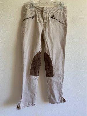 Polo Ralph Lauren Pantalone da equitazione crema-marrone-nero Cotone