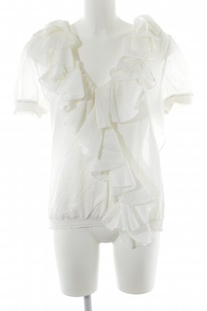 Polo Ralph Lauren Ruffled Blouse natural white casual look
