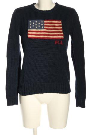 Polo Ralph Lauren Rundhalspullover blau Motivdruck Casual-Look