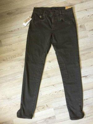 Ralph Lauren Pantalon d'équitation kaki-vert foncé coton